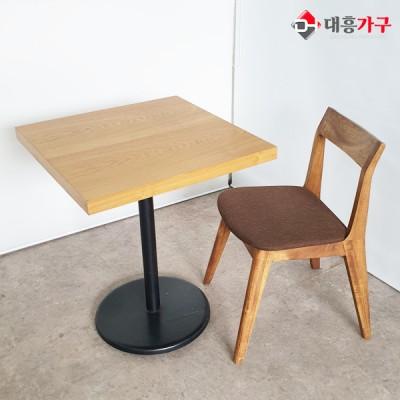 무늬목 테이블 2인 세트